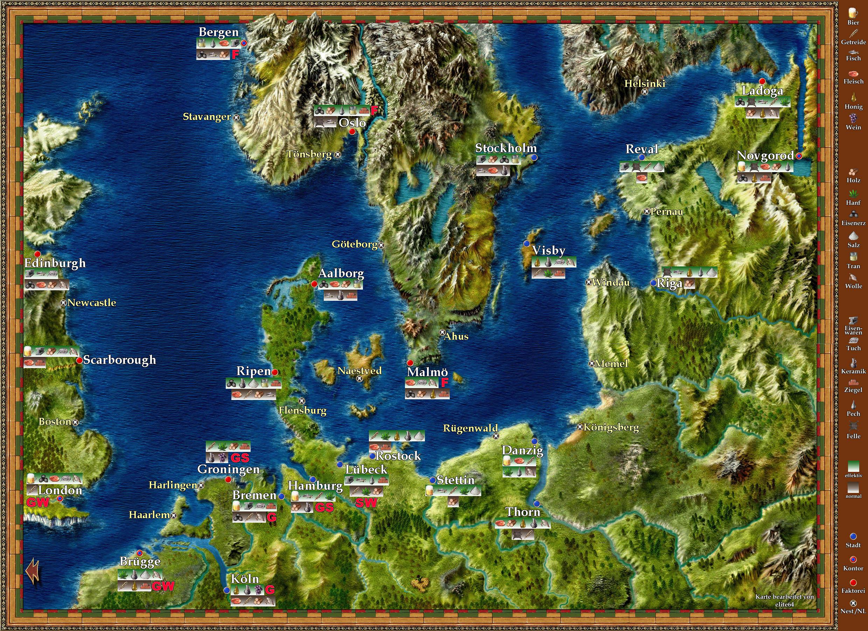 Patrizier 2 Karte